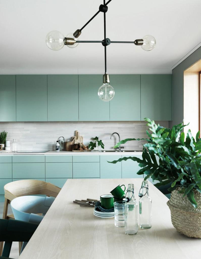 Cuisine Colorée Découvrez Toutes Nos Inspirations Elle Décoration - Peinture vert deau cuisine pour idees de deco de cuisine