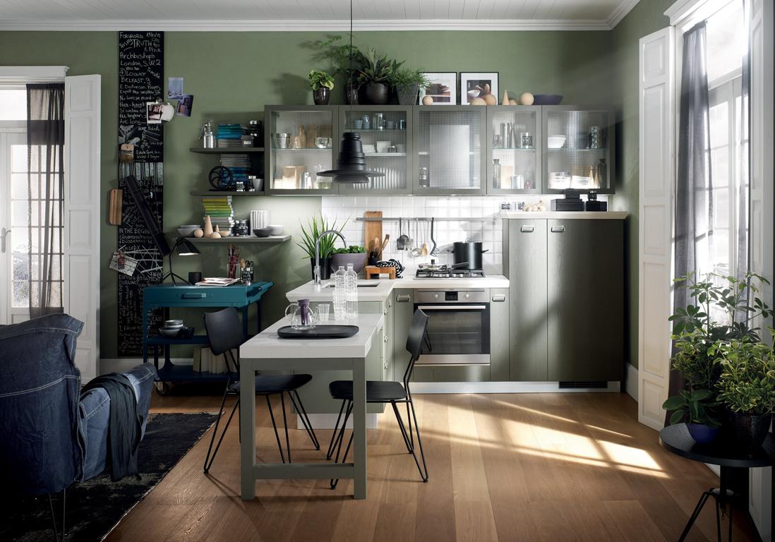 Table cuisine amricaine la maison une cuisine ouverte et for Table haute separation cuisine salon