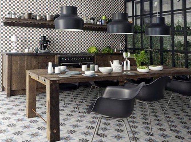 le on de d co donner un style campagne sa cuisine elle d coration. Black Bedroom Furniture Sets. Home Design Ideas