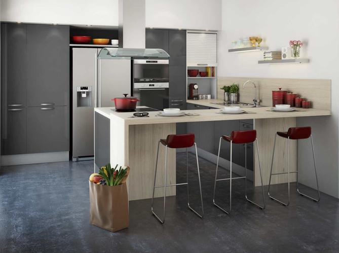 les 4 r gles d 39 or d 39 une cuisine ouverte elle d coration. Black Bedroom Furniture Sets. Home Design Ideas