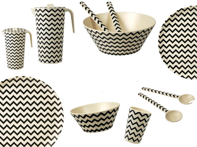 l 39 objet d co du jour une vaisselle colo en fibres de bambou elle d coration. Black Bedroom Furniture Sets. Home Design Ideas