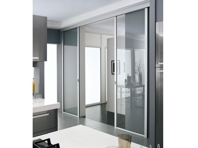 une cloison vitr e et coulissante pour ma cuisine elle d coration. Black Bedroom Furniture Sets. Home Design Ideas
