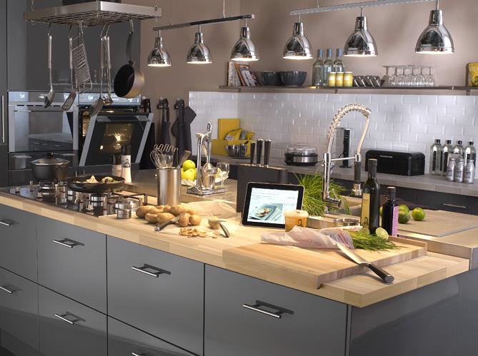 Dossier Spécial Cuisine Elle Décoration - Cuisiniere 5 feux pour idees de deco de cuisine
