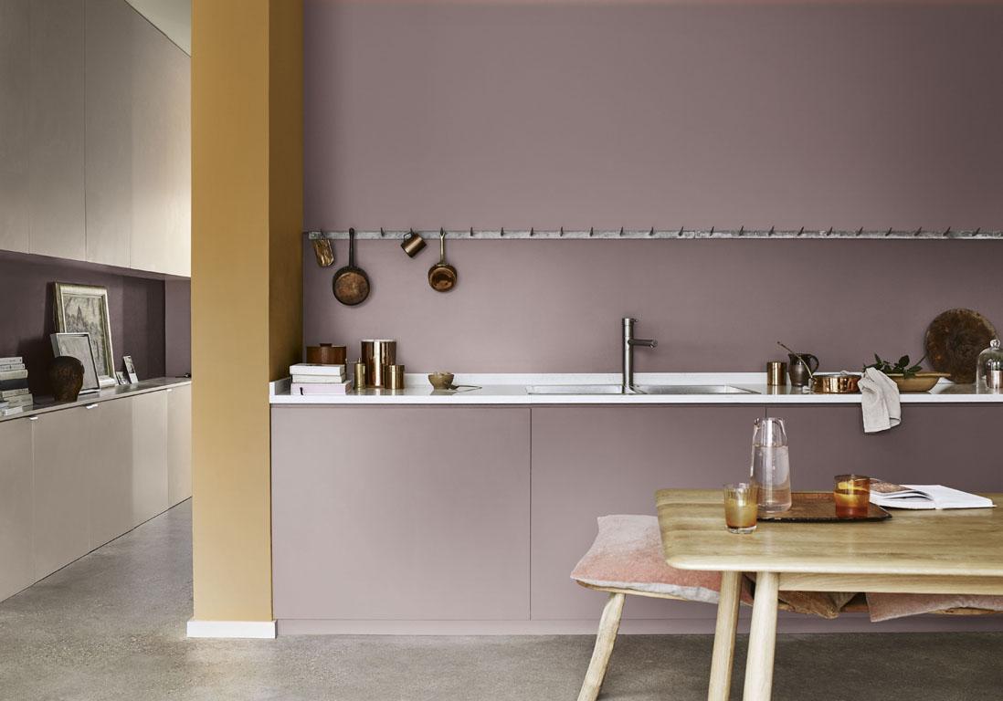Une cuisine design pour un int rieur contemporain elle - Dulux valentine cuisine ...