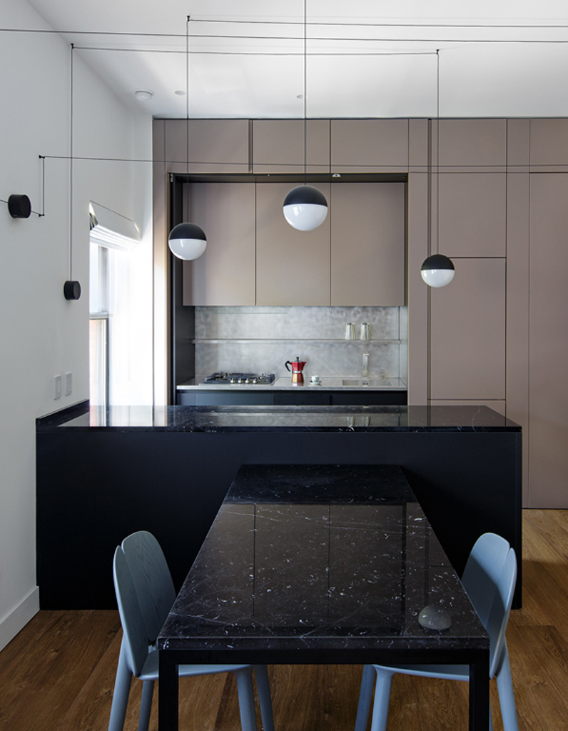 une cuisine design pour un int rieur contemporain elle d coration. Black Bedroom Furniture Sets. Home Design Ideas