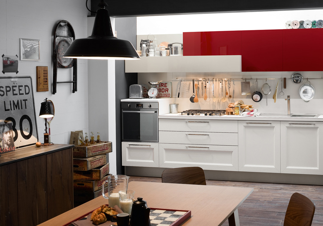 la cuisine rouge comme vous ne l avez jamais vue elle. Black Bedroom Furniture Sets. Home Design Ideas