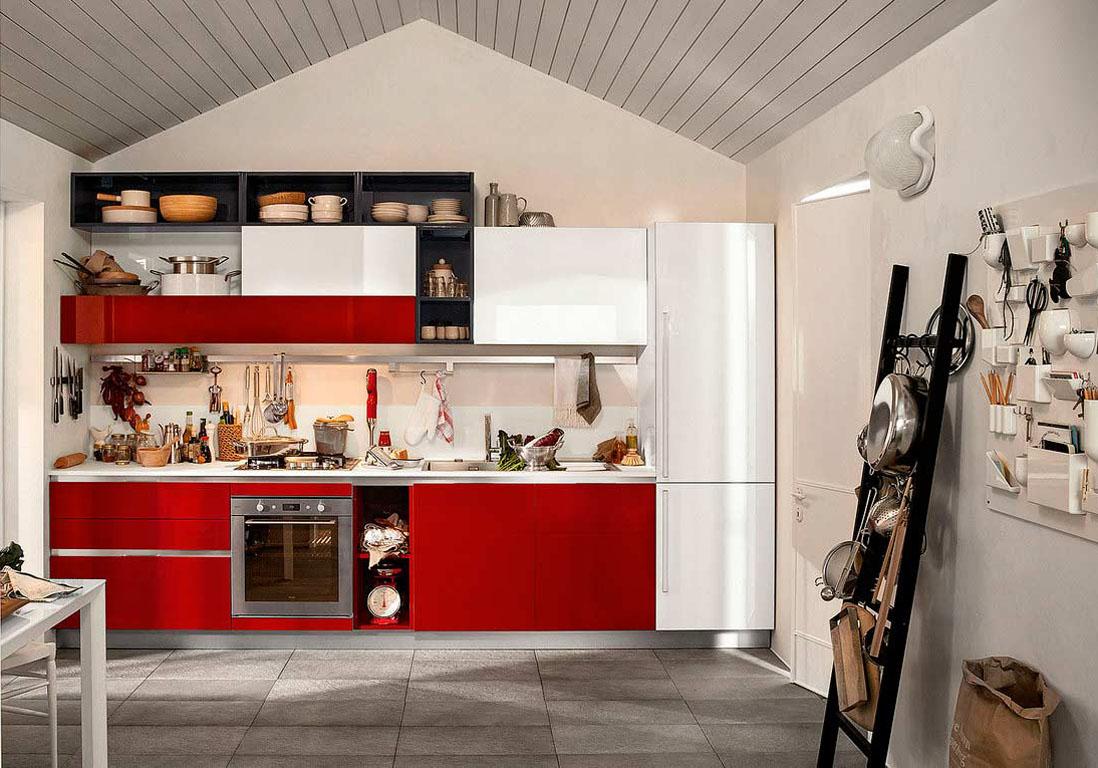 La cuisine rouge comme vous ne l avez jamais vue elle for Cuisine rouge