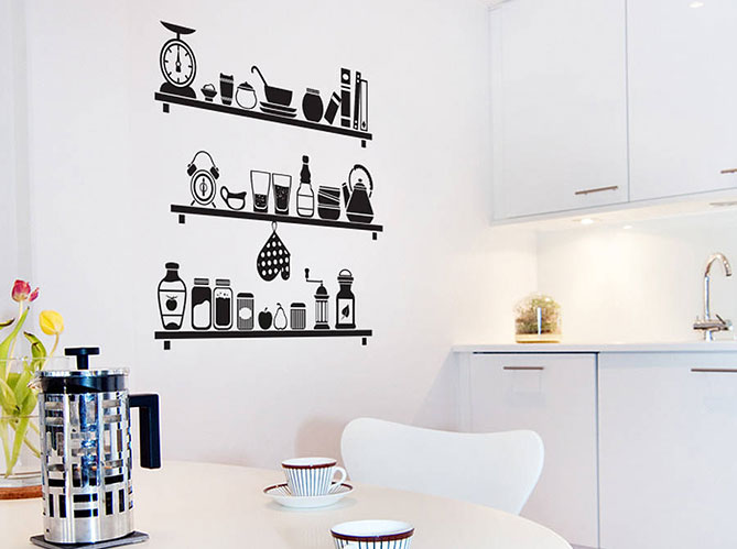 d corer la cuisine avec des stickers elle d coration. Black Bedroom Furniture Sets. Home Design Ideas