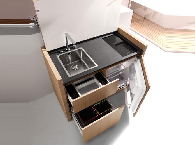 une cuisine compacte r volutionnaire elle d coration. Black Bedroom Furniture Sets. Home Design Ideas