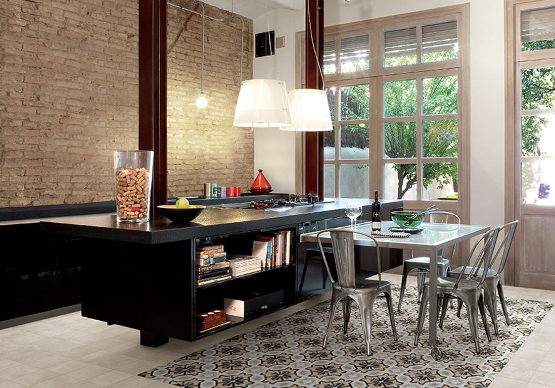 deco maison cuisine ouverte beau idee deco cuisine ouverte peinture couleur lin pour la dco zen. Black Bedroom Furniture Sets. Home Design Ideas