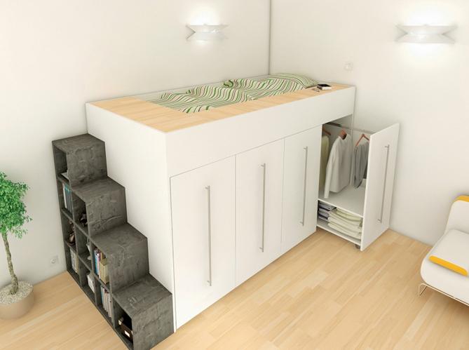 10 solutions pour am nager le dessous d un lit mezzanine elle d coration - Lits avec rangements integres ...