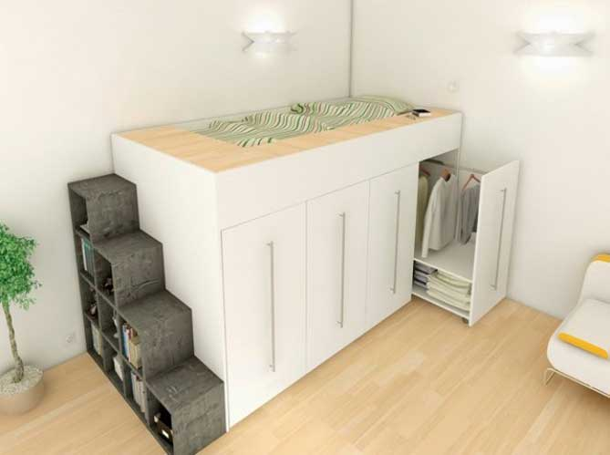5 fa ons d am nager une petite surface elle d coration. Black Bedroom Furniture Sets. Home Design Ideas