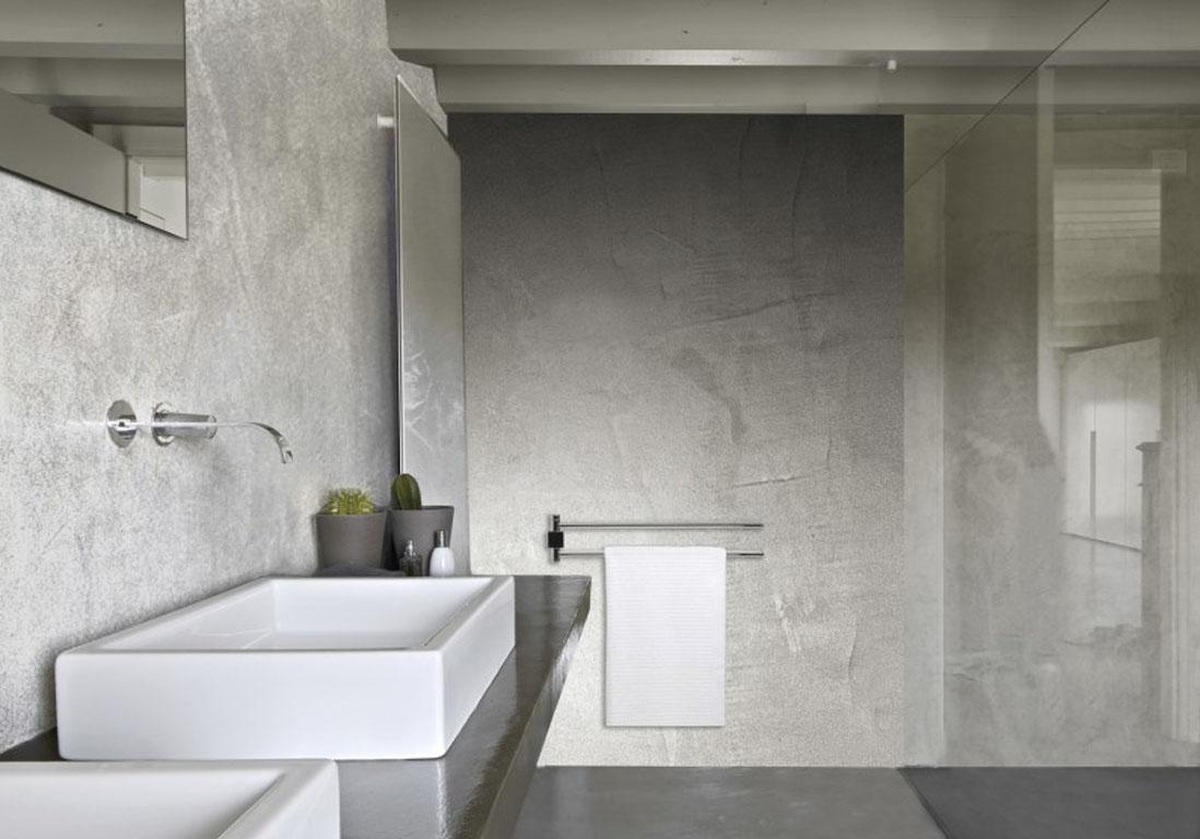 15 salles de bains grises elle d coration - Salle de bain blanche et grise ...