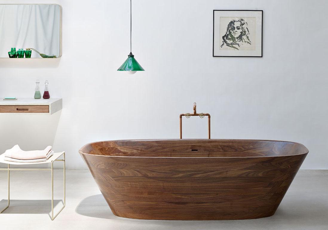 35 salles de bains design elle d coration for Photo salle de bain avec baignoire ilot