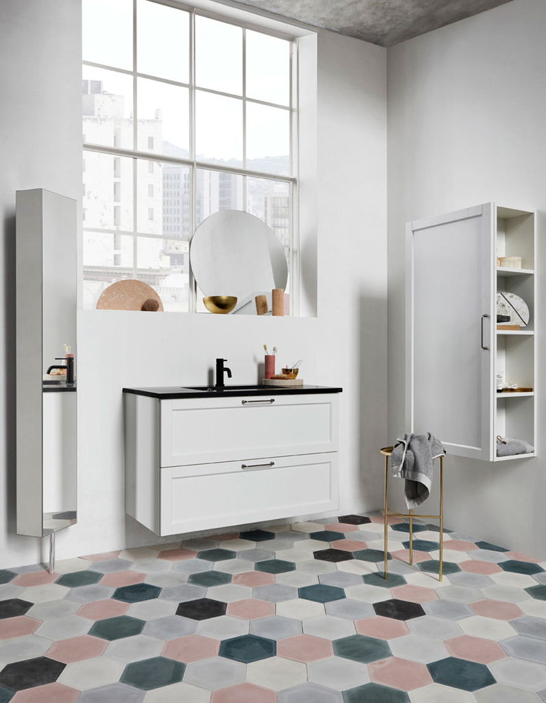 30 id es pour d corer votre salle de bains sans la r nover - Deco carrelage salle de bain ...