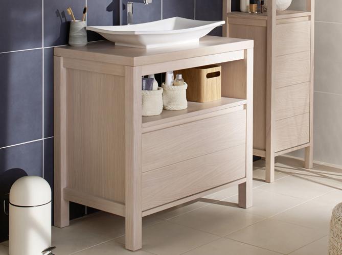 40 meubles pour une petite salle de bains elle d coration for Petit meuble rangement salle de bain