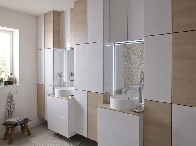 Salle de bains 50 armoires et colonnes pour tout ranger for Colonne salle de bain originale