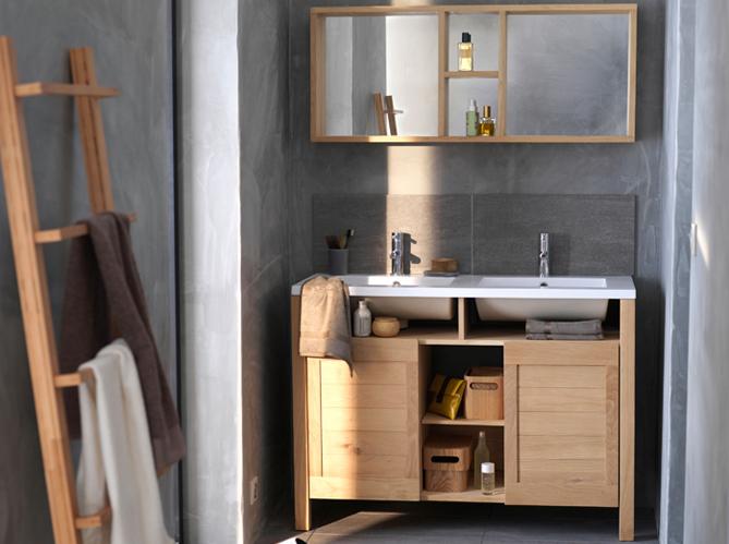12 meubles de salle de bains pas chers elle d coration for Meuble salle de bain pas cher 2 vasques