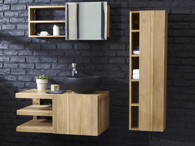 Petit meuble salle de bains notre s lection elle for Petit meuble salle de bain suspendu