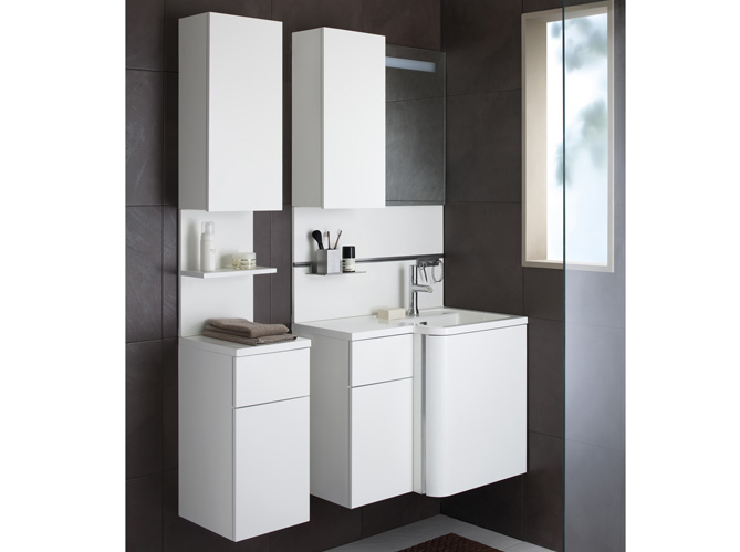 Petit meuble salle de bains notre s lection elle for Salle de bain gain de place