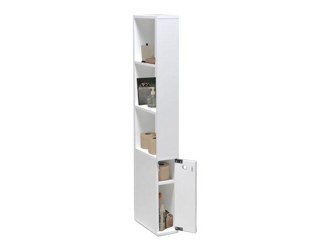 Petit meuble rangement salle de bain 3 une colonne for Petit rangement salle de bain