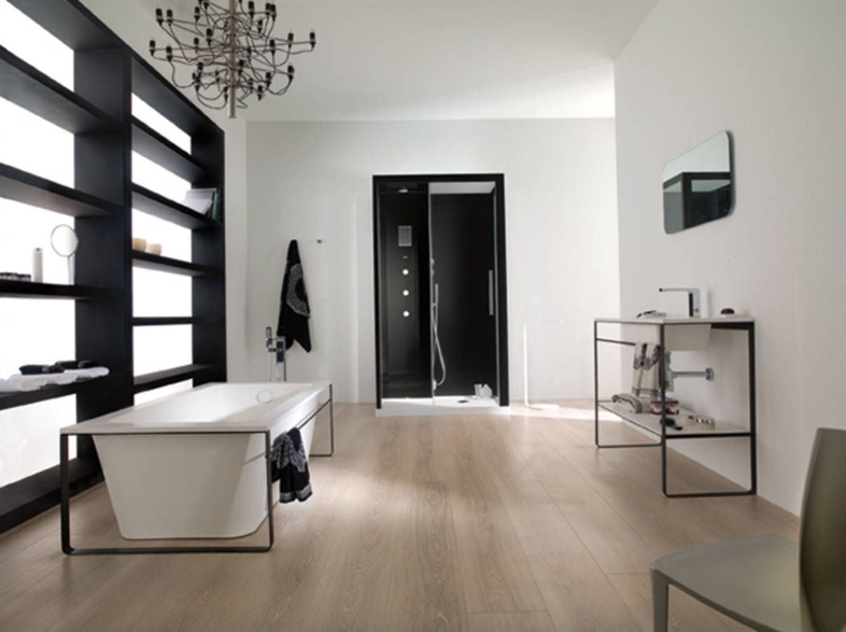 Nos id es avec des meubles de salle de bains design elle for Salle de bain moderne rouge