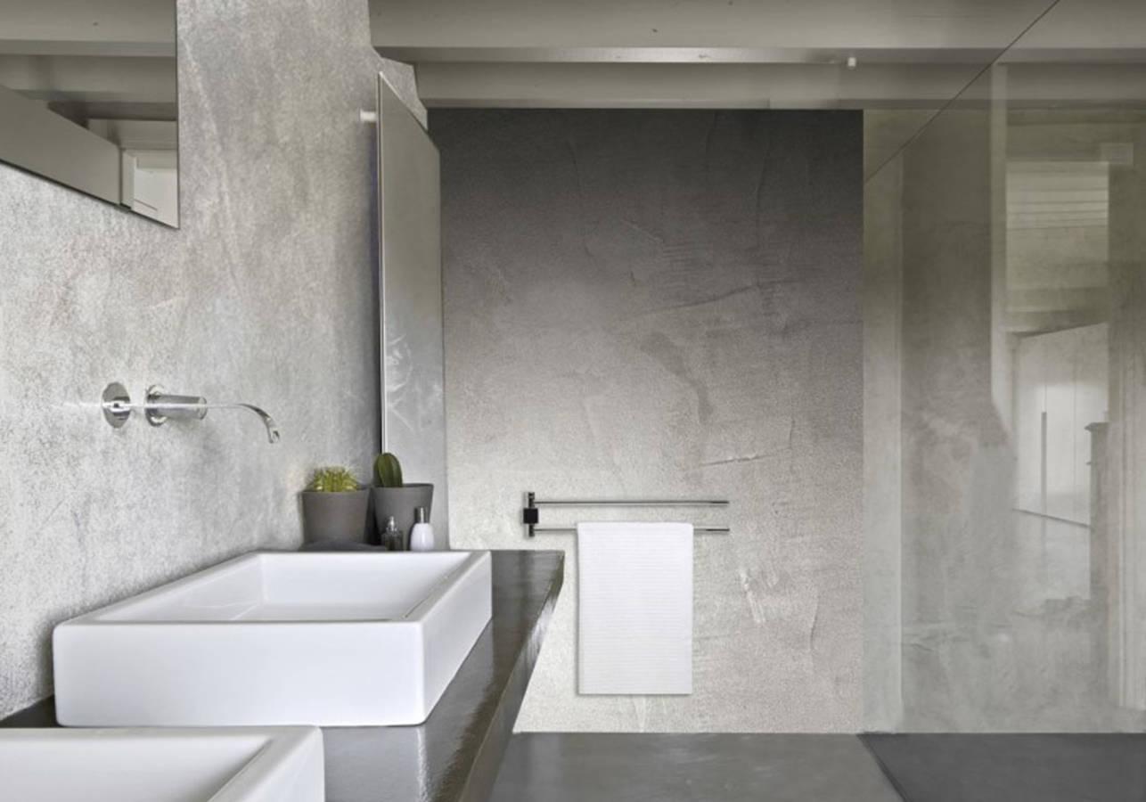 Nos id es avec des meubles de salle de bains design elle for Faience grise salle de bain