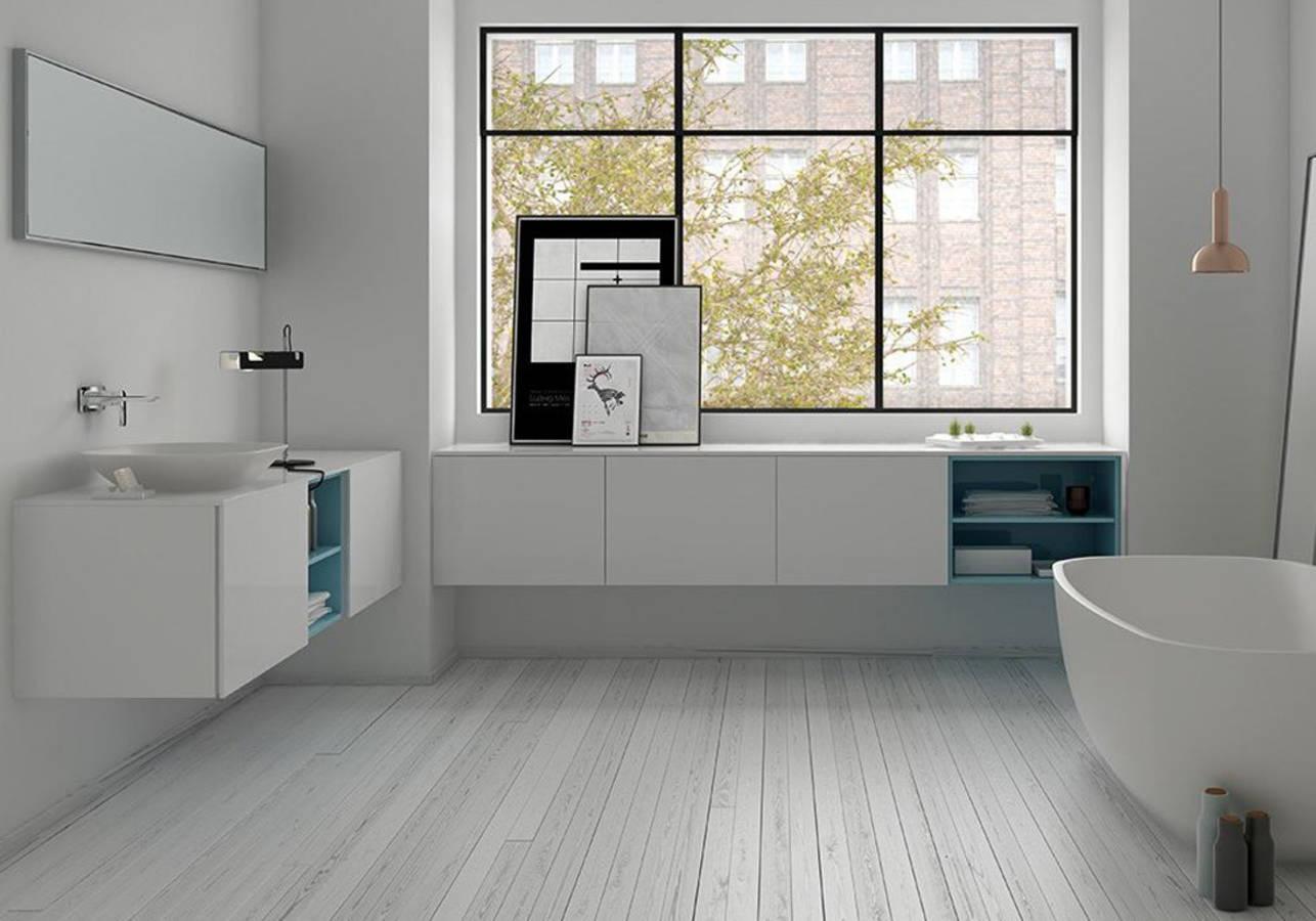 Nos id es avec des meubles de salle de bains design elle - Modele salle de bain contemporaine ...