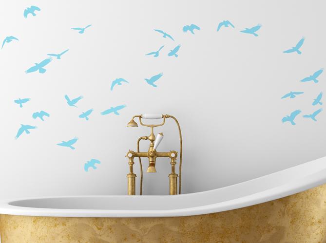 12 stickers pour relooker votre salle de bains elle d coration. Black Bedroom Furniture Sets. Home Design Ideas