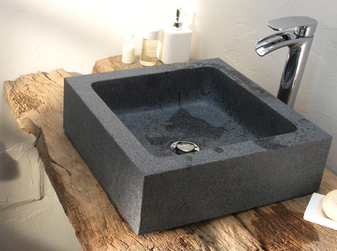 Salle de bains zen elle d coration - Salle de bain pierre et bois ...