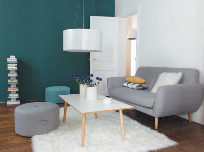 Design : Decoration Salon Vert Pistache 58 Argenteuil, Small Hair ...
