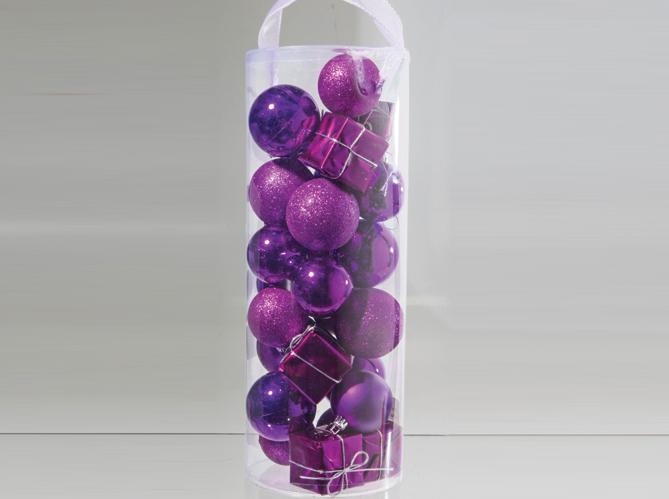 40 boules de no l color es elle d coration - Foir fouille deco noel ...
