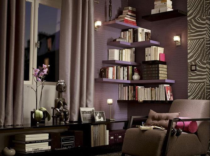 10 id es pour une biblioth que originale elle d coration - Objet de decoration pour salon ...