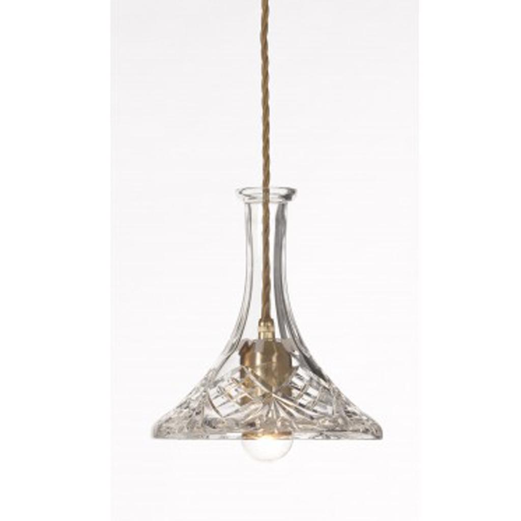 Le verre met le luminaire nu elle d coration - Suspension en cristal ...
