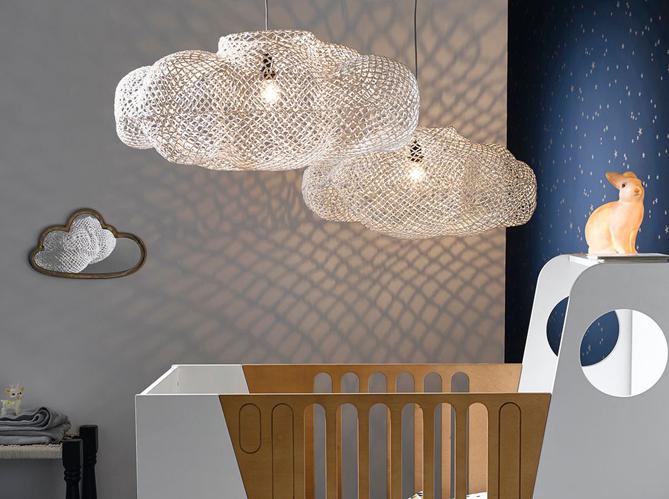la suspension en maille ce luminaire qui illumine nos int rieurs elle d coration. Black Bedroom Furniture Sets. Home Design Ideas
