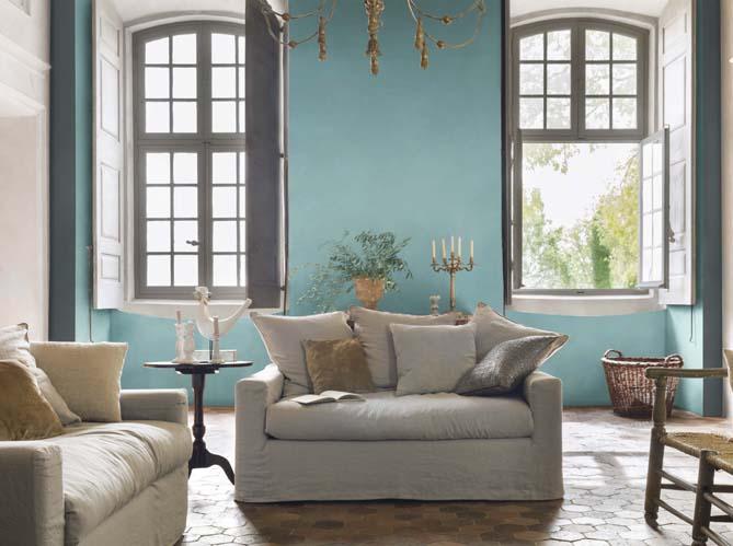 Peinture salon plus de 20 couleurs canons pour le for Salon turquoise et gris
