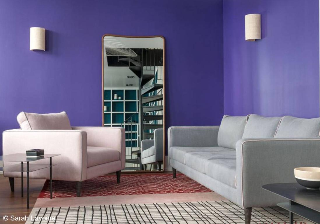 Osons la couleur dans le salon elle d coration for Decoration salon violet