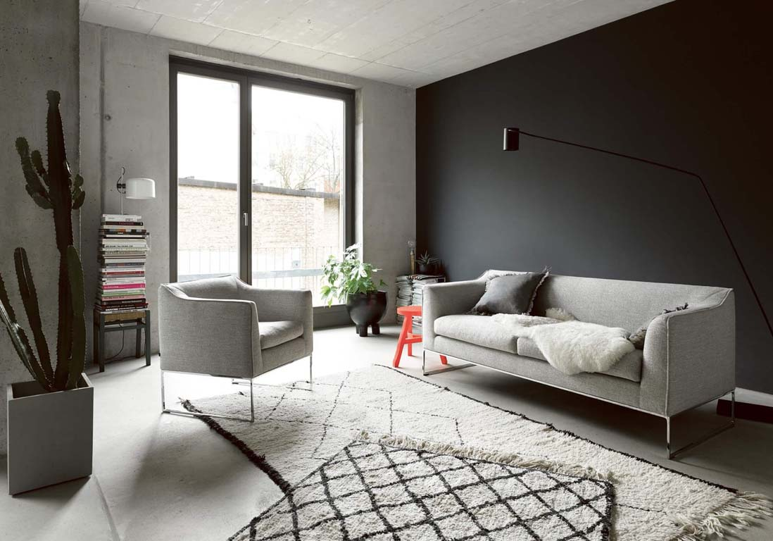 Un salon gris pour une d co chic et intemporelle elle for Site de decoration salon