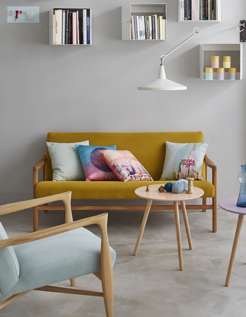un salon jaune pour un int rieur clatant elle d coration. Black Bedroom Furniture Sets. Home Design Ideas
