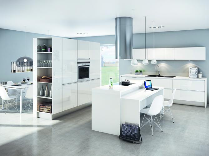 Une transition id ale entre la cuisine et le salon elle for Amenagement cuisine salon