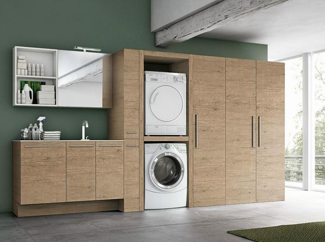 14 buanderies aussi pratiques que jolies elle d coration - Mobili per lavanderia di casa ...