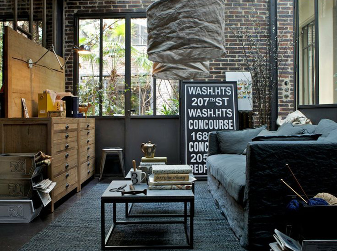 Nos conseils pour une d co industrielle au top elle d coration - Repeindre sur une tapisserie ...
