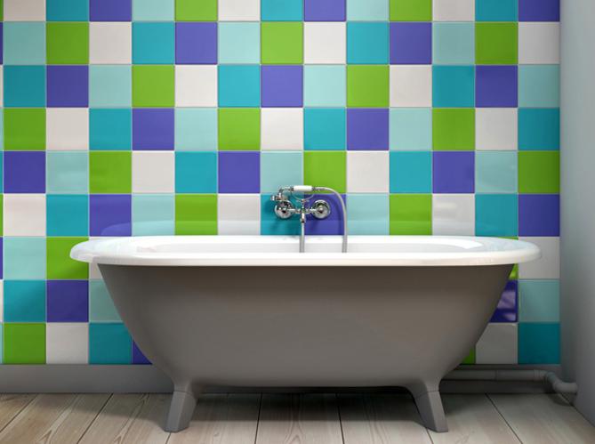 Osez le m lange de couleurs elle d coration for Salle de bain pop