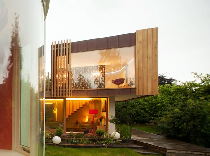 une extension en cuivre pour ma maison elle d coration. Black Bedroom Furniture Sets. Home Design Ideas