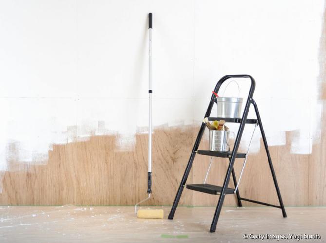 peindre un mur elle d coration. Black Bedroom Furniture Sets. Home Design Ideas