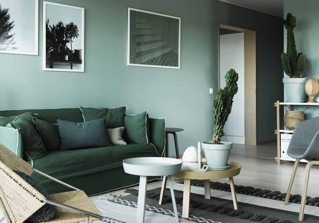Mur color nos inspirations pour un int rieur haut en for Porte living