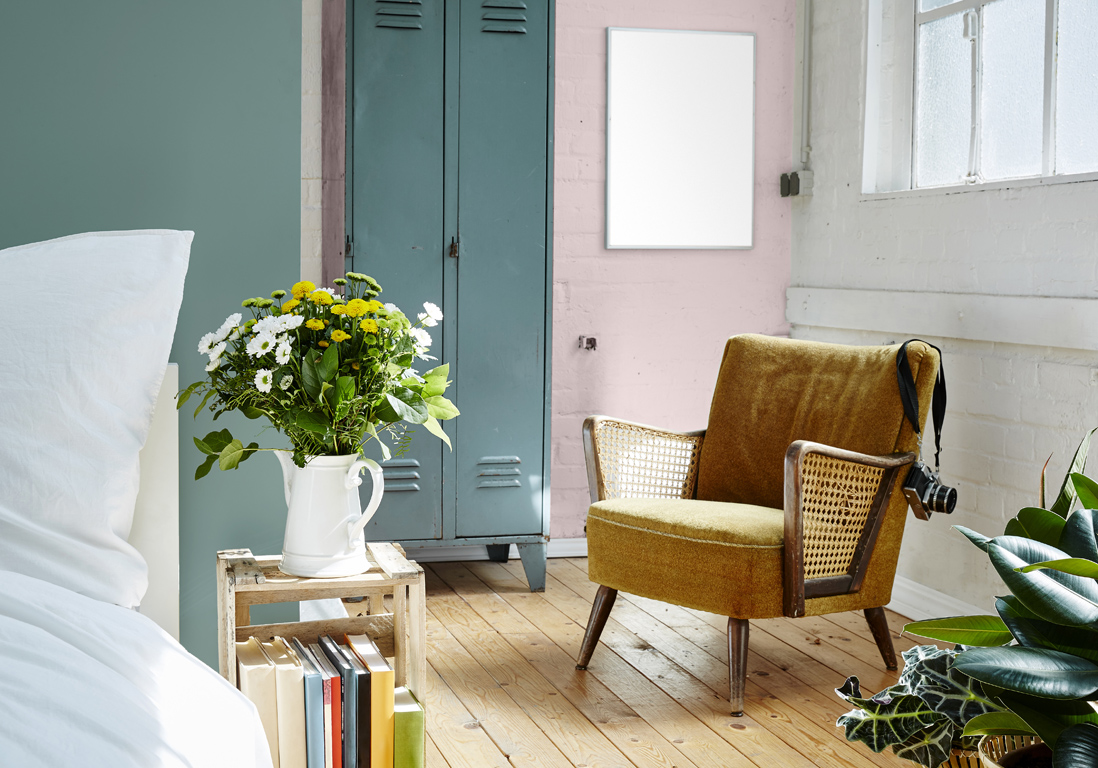 mur color nos inspirations pour un int rieur haut en couleur elle d coration. Black Bedroom Furniture Sets. Home Design Ideas