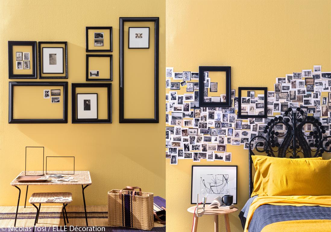 Murs 8 id es d co originales elle d coration - Idee deco album photo ...