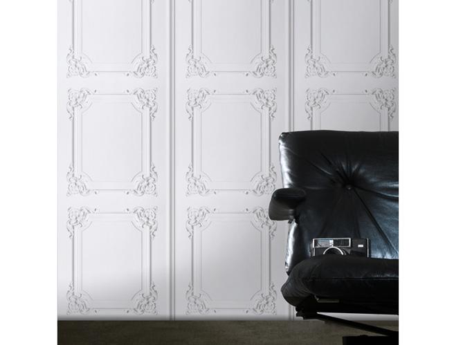 les papiers peints trompe l il boostent nos murs elle. Black Bedroom Furniture Sets. Home Design Ideas