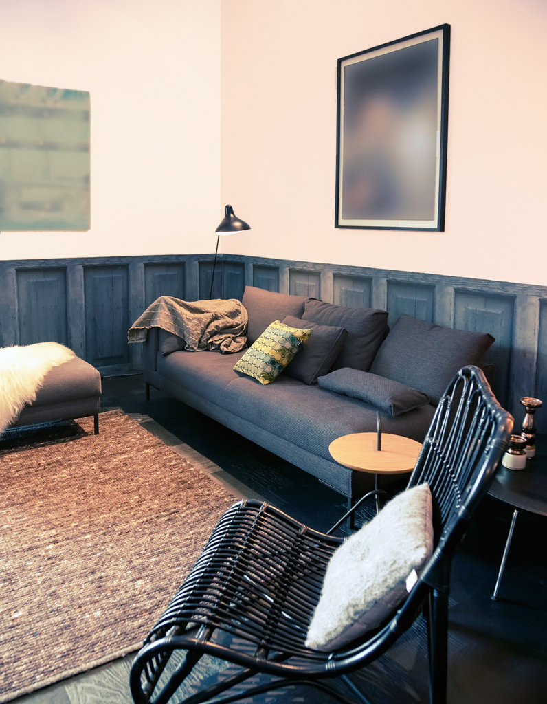 peindre un mur en deux couleurs dynamisez vos espaces gr ce un mur bicolore elle d coration. Black Bedroom Furniture Sets. Home Design Ideas